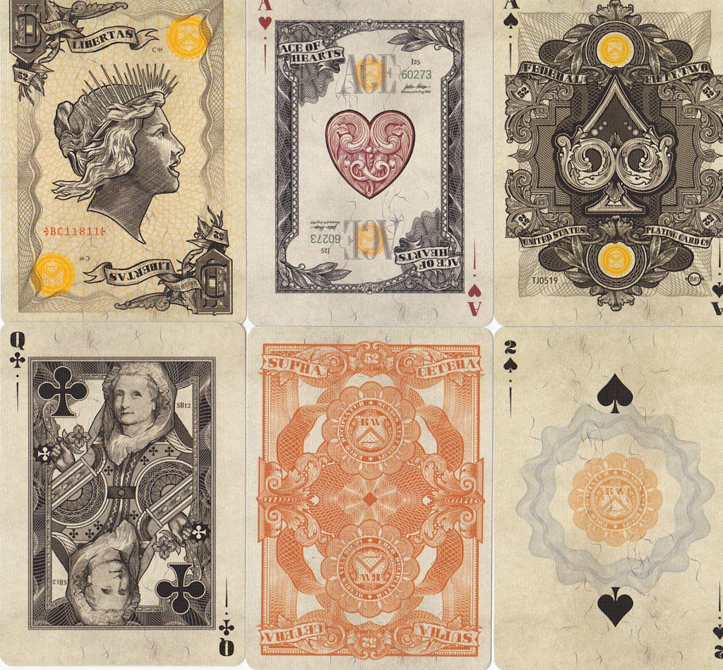 Federal 52 gold certificate playing cards rareplayingcards federal 52 gold certificate playing cards by kings wild project xflitez Choice Image