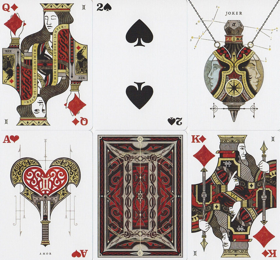 Gemini Ignis Playing Cards by Stockholm 17