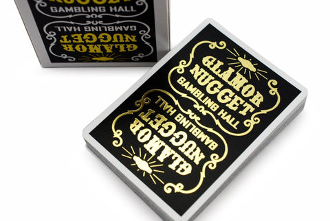 Glamor Nugget: Gold Edition Playing Cards by RarePlayingCards.com