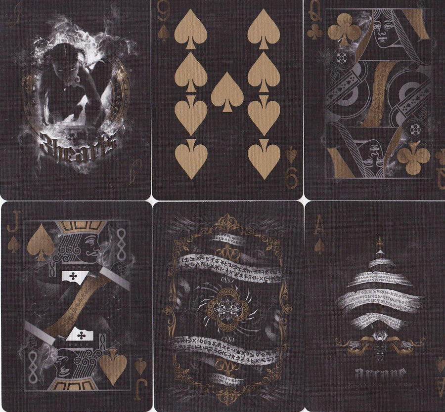 Gold Arcane Playing Cards by Ellusionist