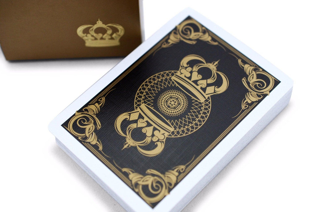 Gold Crown Playing Cards - RarePlayingCards.com - 1