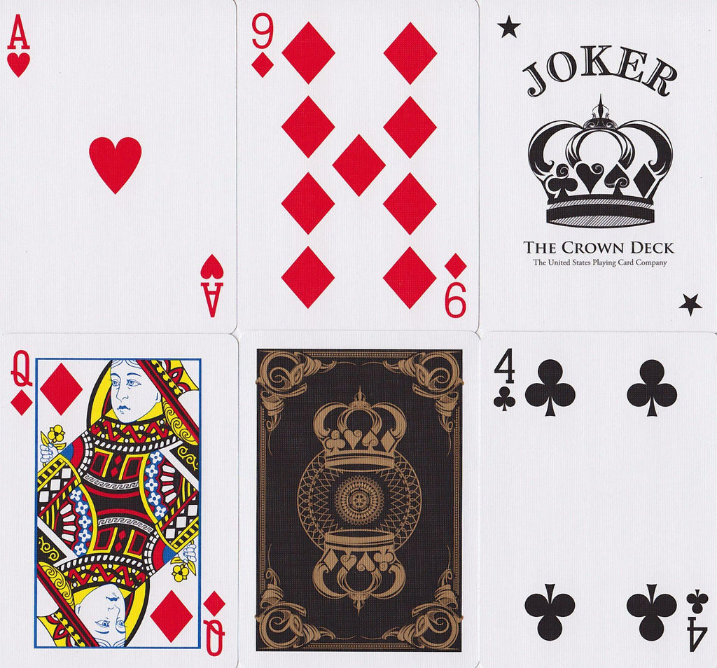 Gold Crown Playing Cards - RarePlayingCards.com - 9