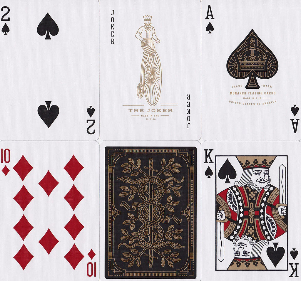 Gold Monarchs Playing Cards - RarePlayingCards.com - 10