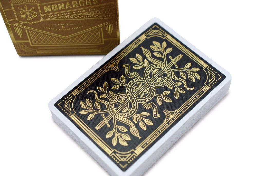 Gold Monarchs Playing Cards - RarePlayingCards.com - 1
