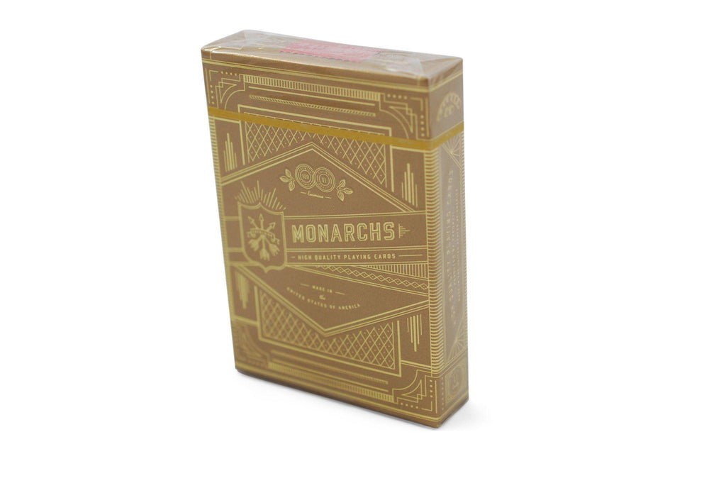 Gold Monarchs Playing Cards - RarePlayingCards.com - 2