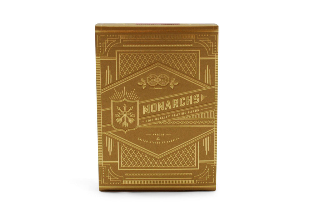 Gold Monarchs Playing Cards - RarePlayingCards.com - 3