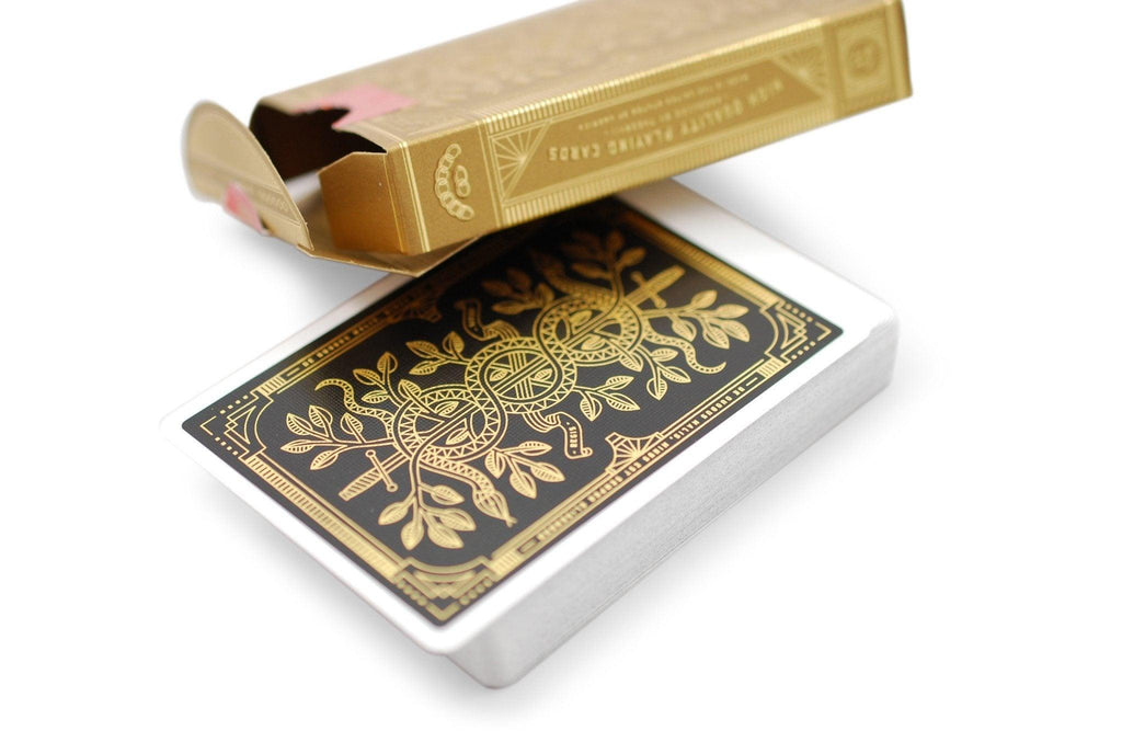 Gold Monarchs Playing Cards - RarePlayingCards.com - 6