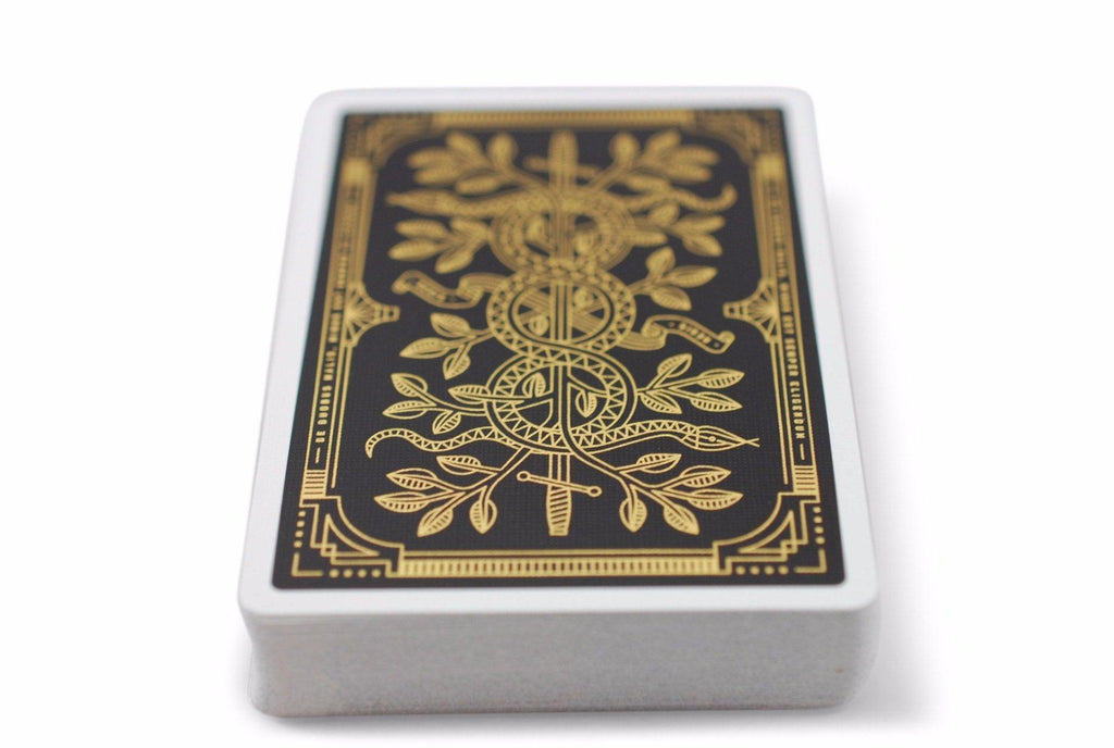 Gold Monarchs Playing Cards