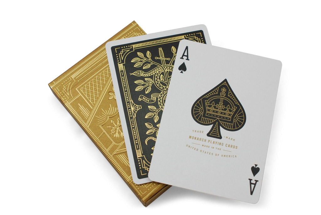 Gold Monarchs Playing Cards - RarePlayingCards.com - 9