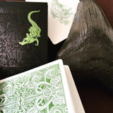 Green Gatorbacks Playing Cards - RarePlayingCards.com - 9