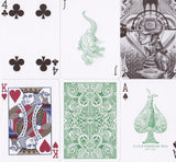Green Gatorbacks Playing Cards - RarePlayingCards.com - 10