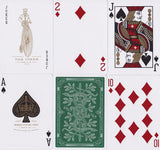 Green Monarchs Playing Cards - RarePlayingCards.com - 10