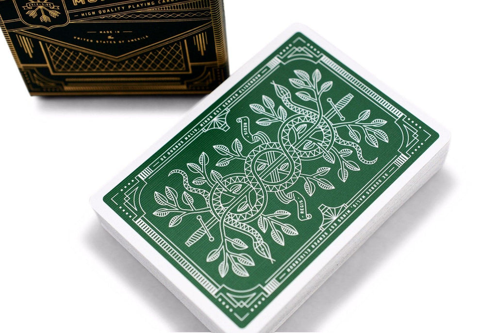 Green Monarchs Playing Cards - RarePlayingCards.com - 1