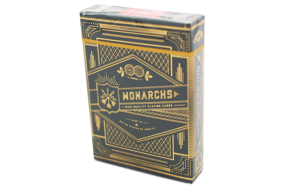 Green Monarchs Playing Cards - RarePlayingCards.com - 2