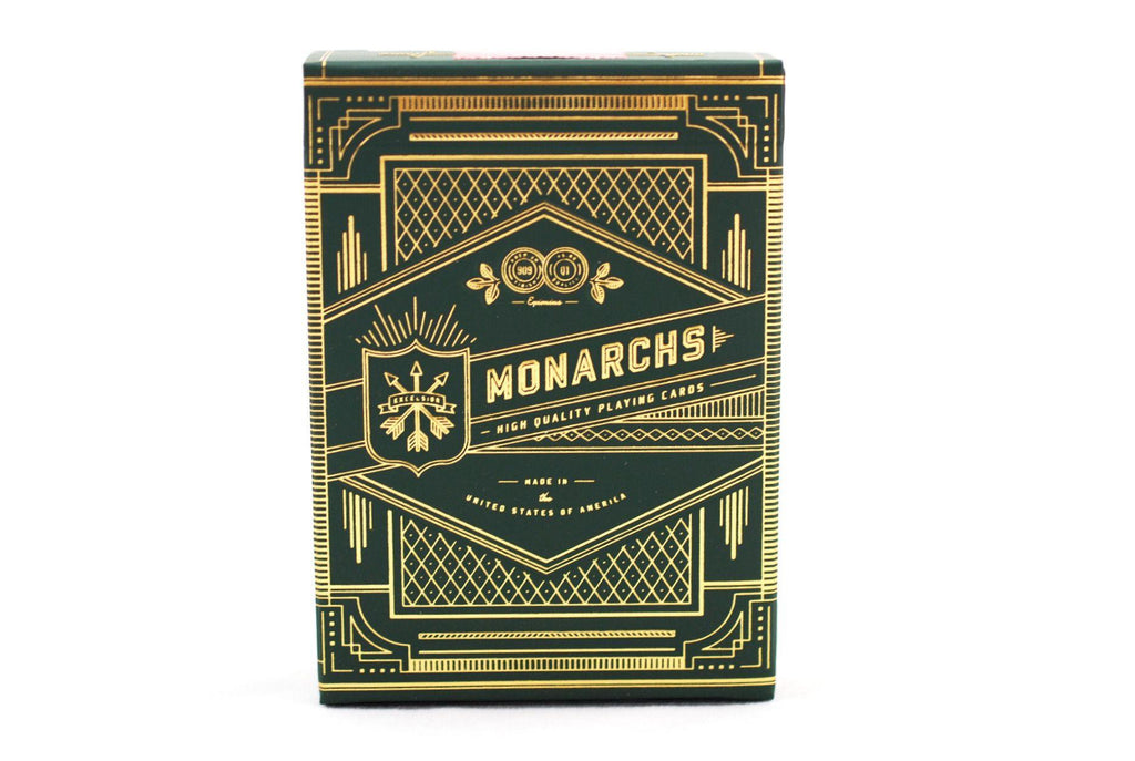 Green Monarchs Playing Cards - RarePlayingCards.com - 3
