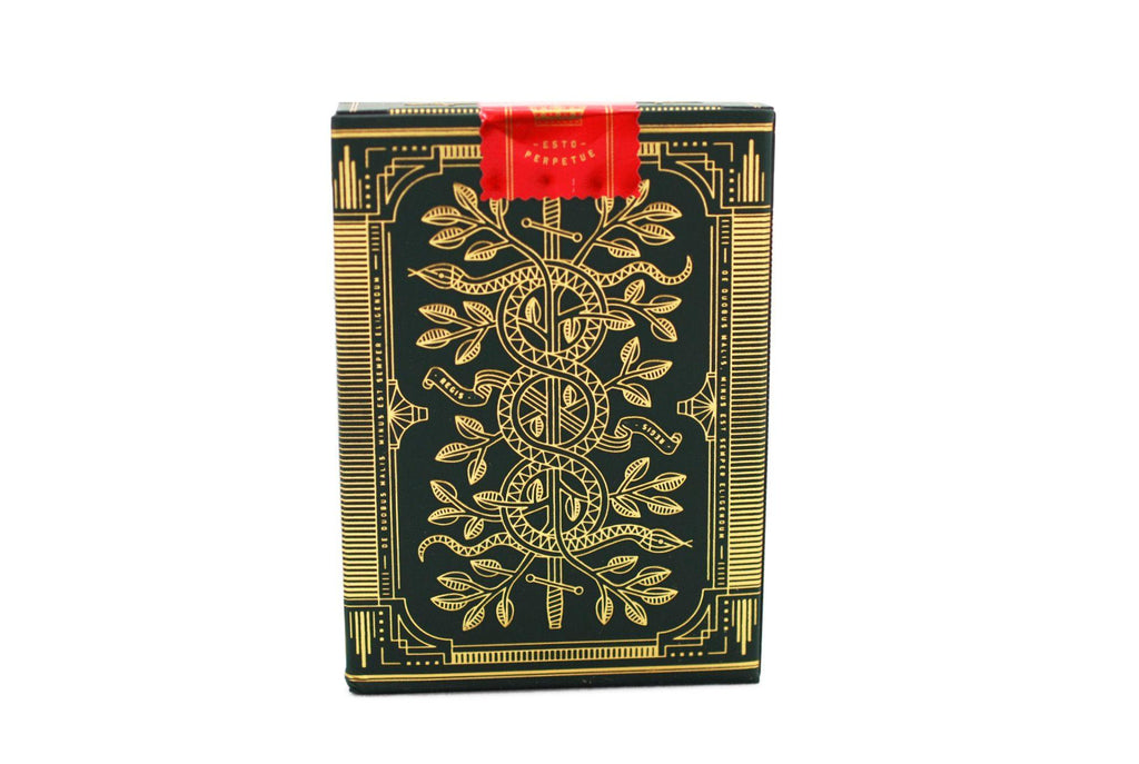 Green Monarchs Playing Cards - RarePlayingCards.com - 4