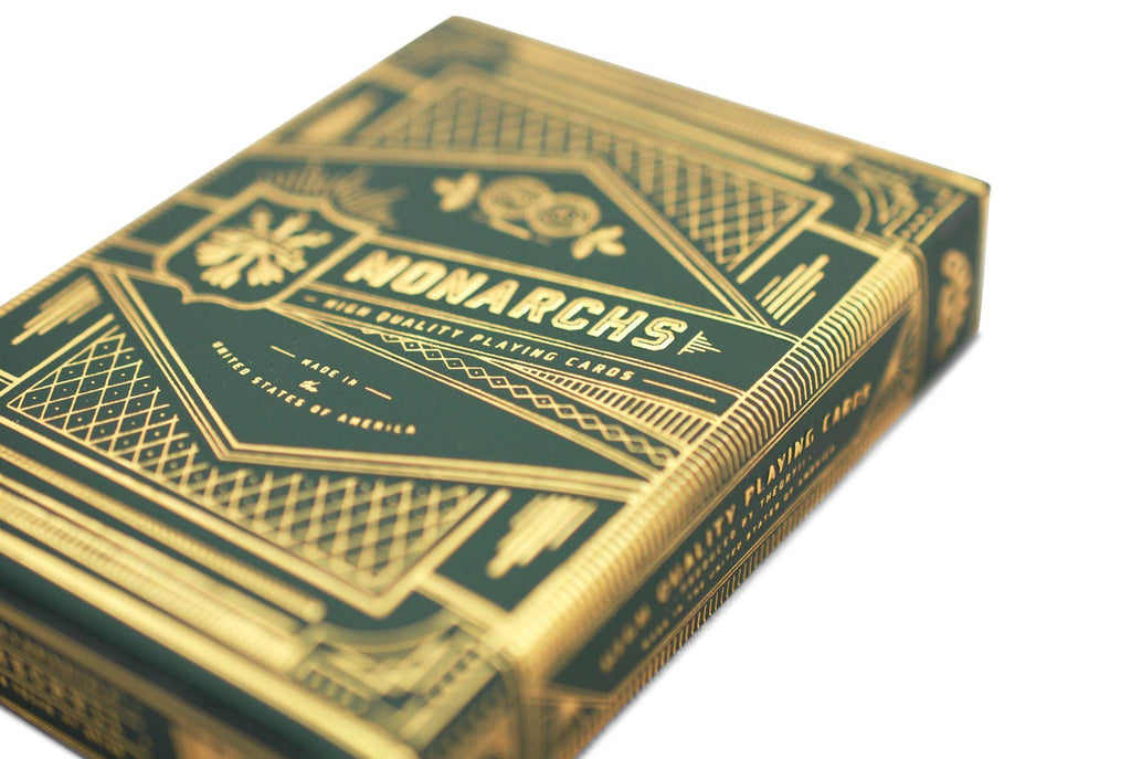 Green Monarchs Playing Cards - RarePlayingCards.com - 5