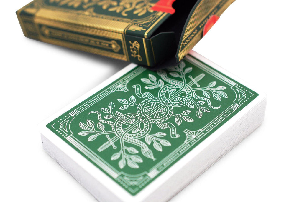Green Monarchs Playing Cards - RarePlayingCards.com - 6