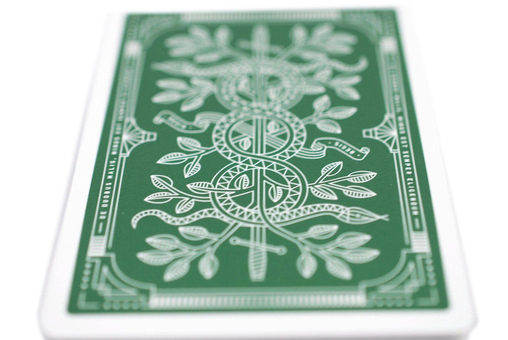 Green Monarchs Playing Cards - RarePlayingCards.com - 8