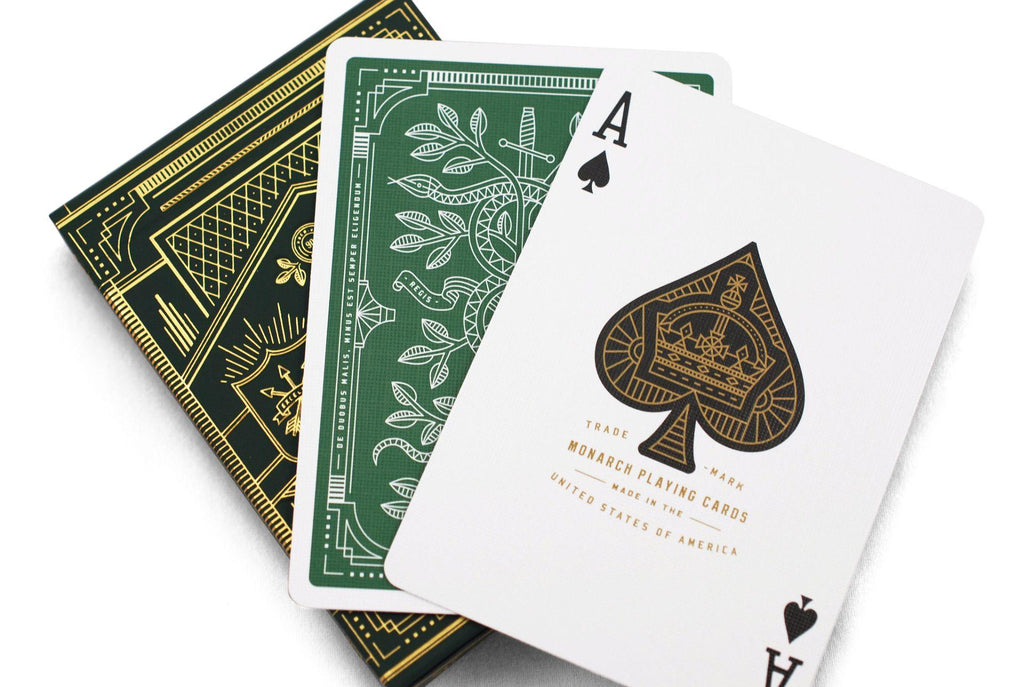 Green Monarchs Playing Cards - RarePlayingCards.com - 9