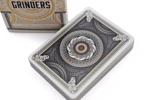 Grinders White Gold Limited Ed. Playing Cards - RarePlayingCards.com - 1