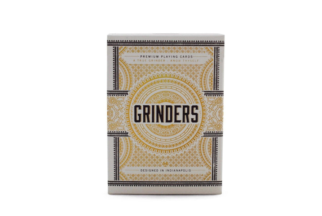 Grinders White Gold Limited Ed. Playing Cards - RarePlayingCards.com - 2