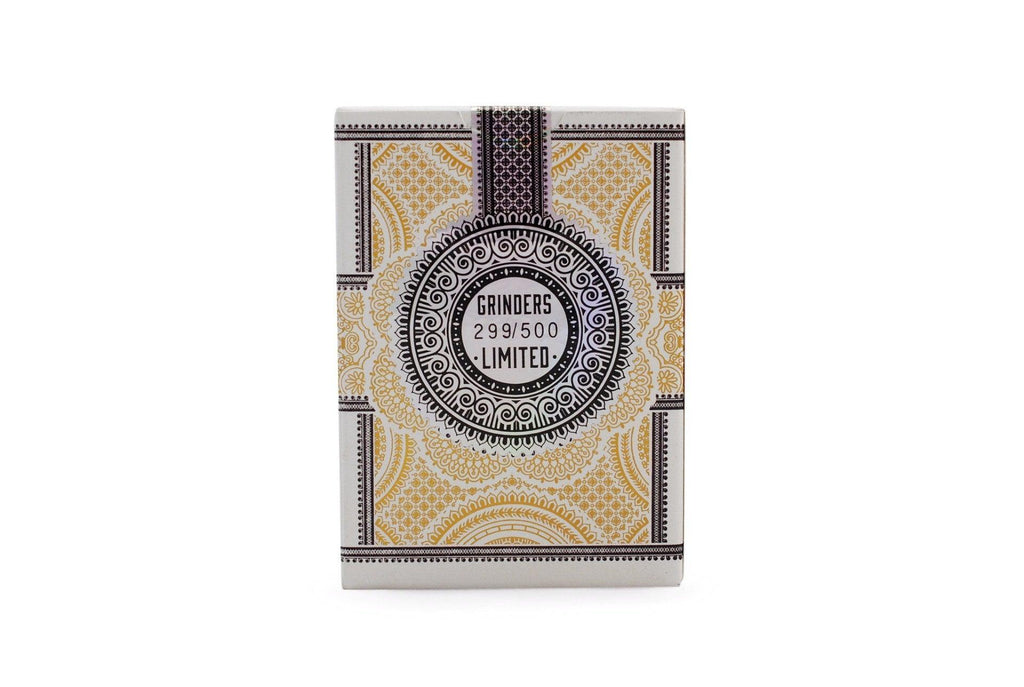 Grinders White Gold Limited Ed. Playing Cards - RarePlayingCards.com - 3