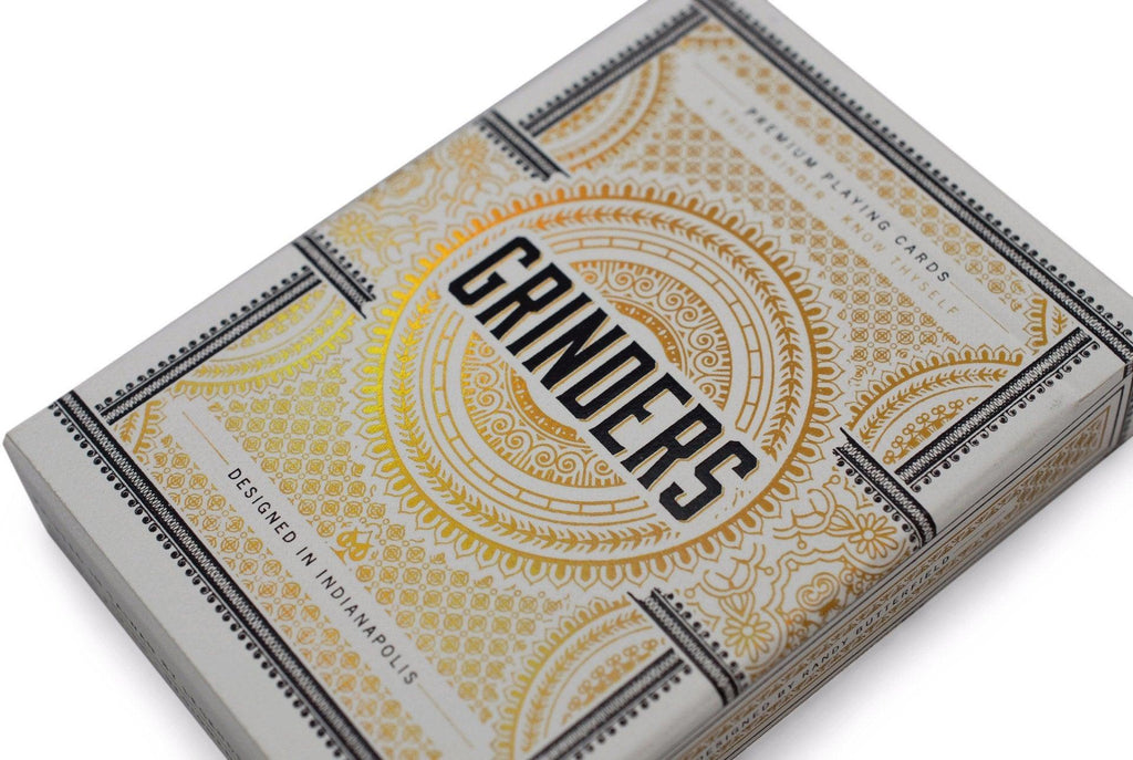 Grinders White Gold Limited Ed. Playing Cards - RarePlayingCards.com - 4