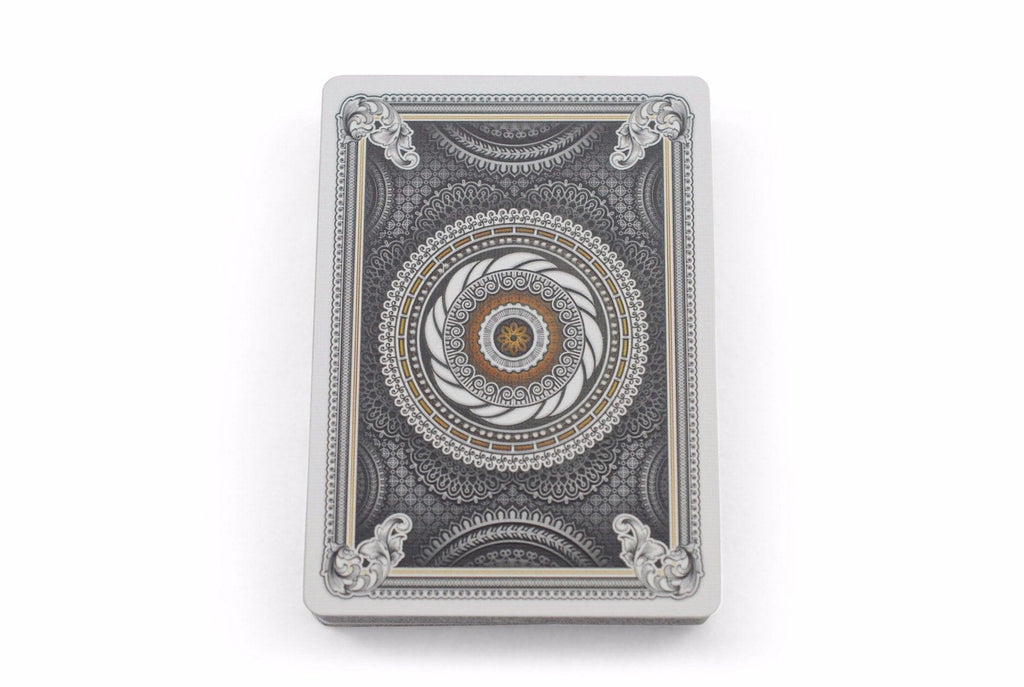 Grinders White Gold Limited Ed. Playing Cards - RarePlayingCards.com - 7