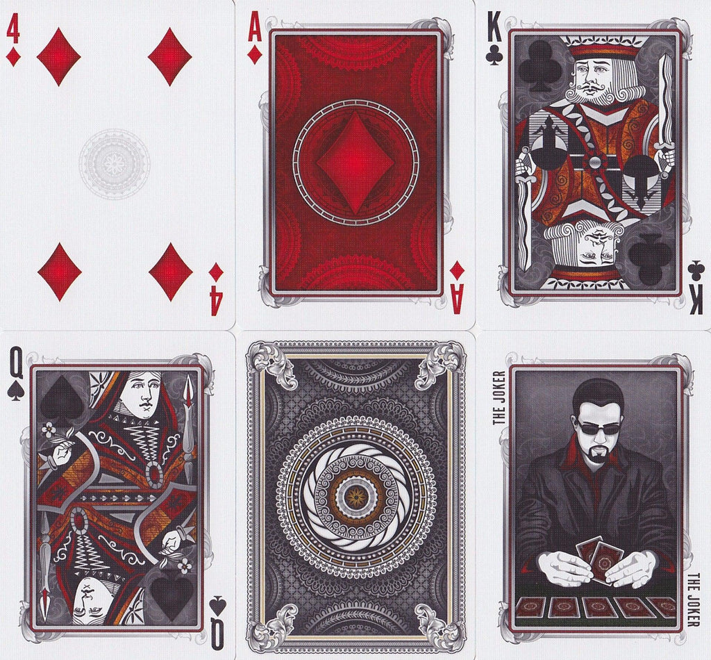 Grinders White Gold Limited Ed. Playing Cards - RarePlayingCards.com - 9