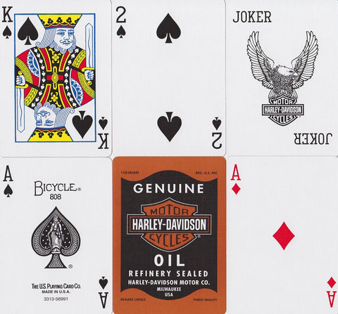 Harley Davidson® Oil Playing Cards