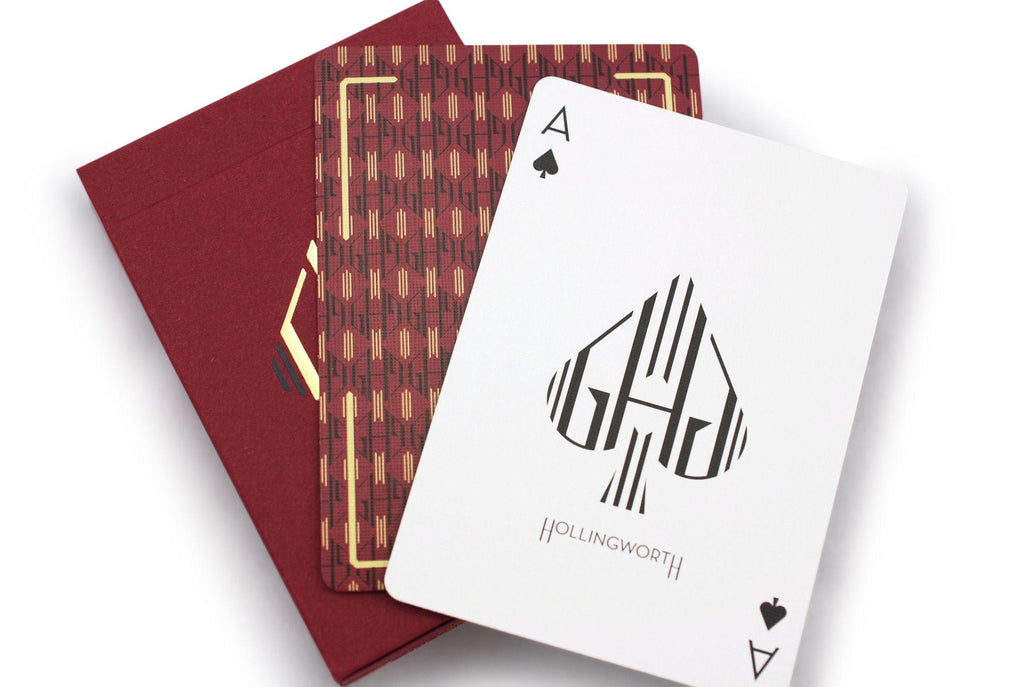 Hollingworths, Burgundy Ed. Playing Cards - RarePlayingCards.com - 10