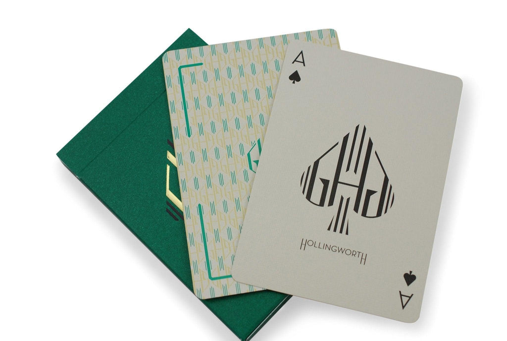 Hollingworths, Emerald Ed. Playing Cards - RarePlayingCards.com - 7