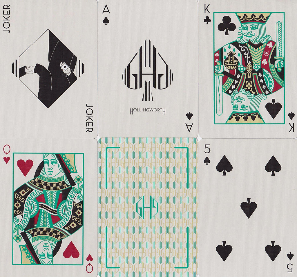 Hollingworths, Emerald Ed. Playing Cards - RarePlayingCards.com - 9