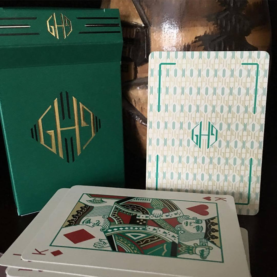 Hollingworths, Emerald Ed. Playing Cards by Dan & Dave