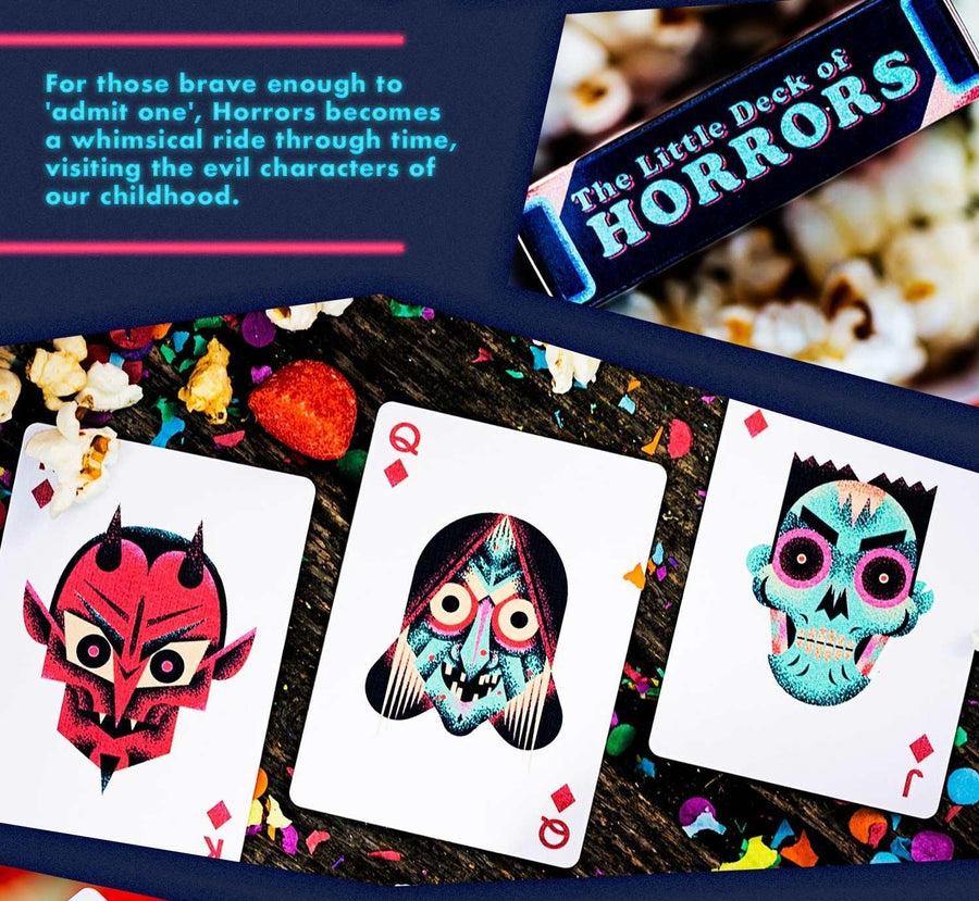 Little Deck of Horrors Playing Cards by Ellusionist