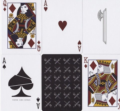 Kings Inverted Playing Cards - RarePlayingCards.com - 1