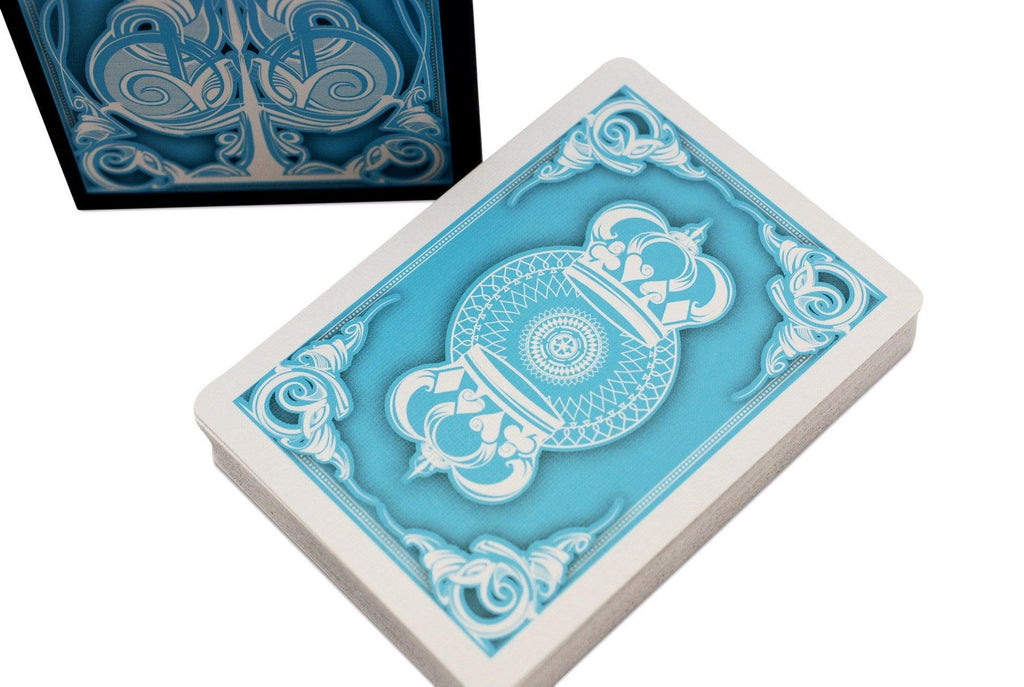 Light Blue Crown Playing Cards - RarePlayingCards.com - 1