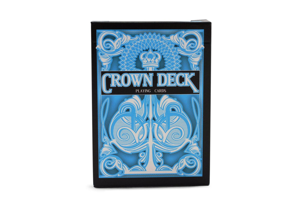 Light Blue Crown Playing Cards - RarePlayingCards.com - 2
