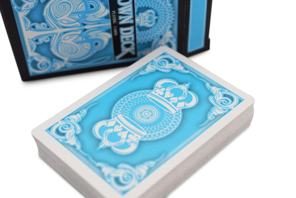 Light Blue Crown Playing Cards - RarePlayingCards.com - 4