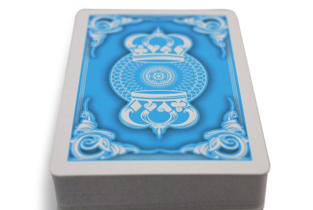 Light Blue Crown Playing Cards - RarePlayingCards.com - 6