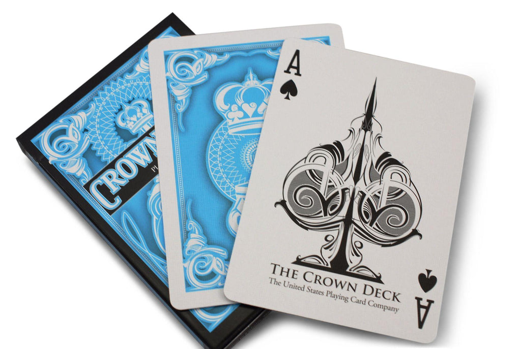 Light Blue Crown Playing Cards - RarePlayingCards.com - 7