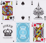 Light Blue Crown Playing Cards - RarePlayingCards.com - 8