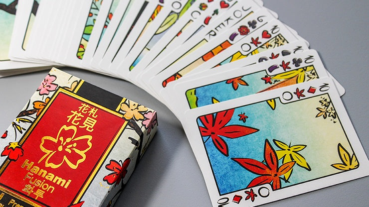 Limited Edition Hanami Fusion (Poker Size) Playing Cards by Legends Playing Card Co.