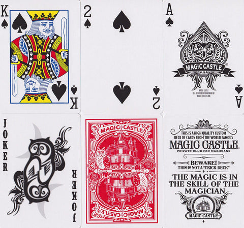 Magic Castle Playing Cards - RarePlayingCards.com - 1