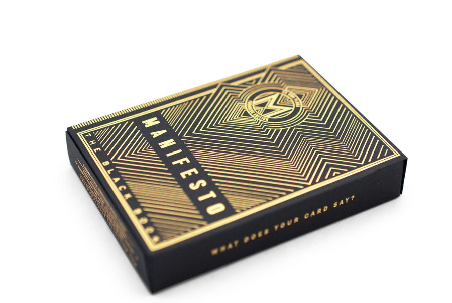 Manifesto Gold Playing Cards by US Playing Card Co.