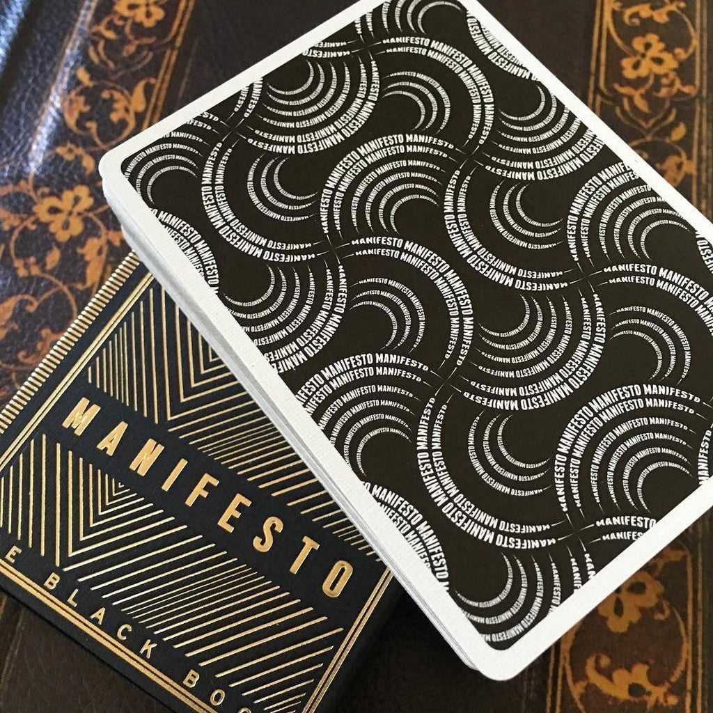 Manifesto Gold Playing Cards - RarePlayingCards.com - 7