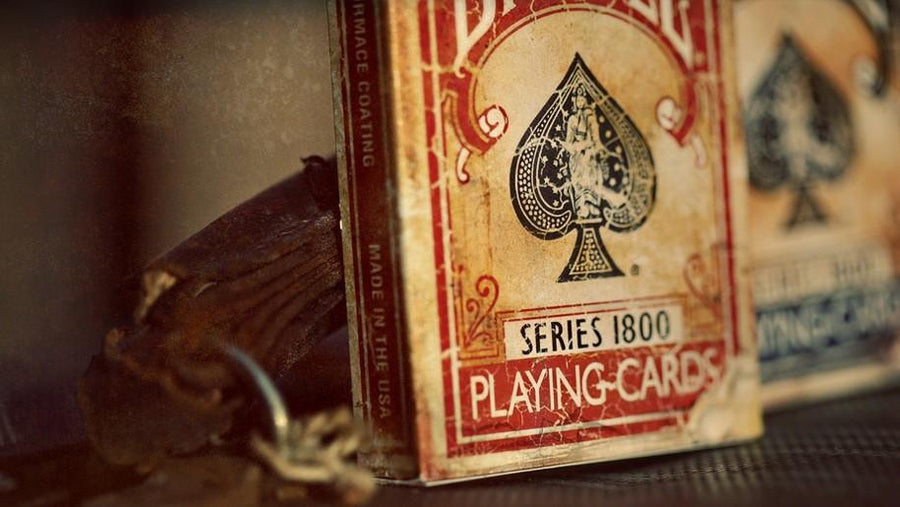 Marked Vintage 1800 Deck (Red) Playing Cards by Ellusionist