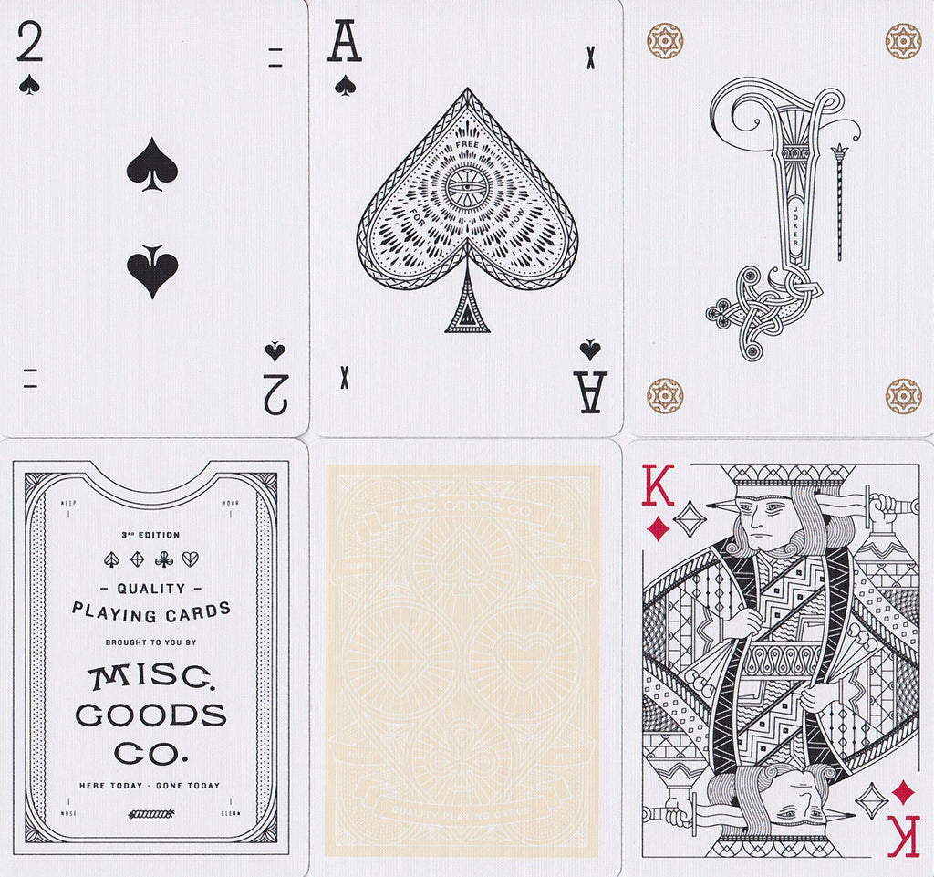 Misc. Goods Co. Playing Cards - RarePlayingCards.com - 14