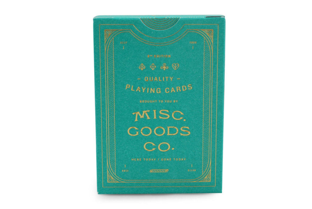 Misc. Goods Co. Playing Cards - RarePlayingCards.com - 3